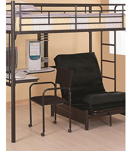 Twin Loft Bunk Bed With Futon Chair Desk Affordable