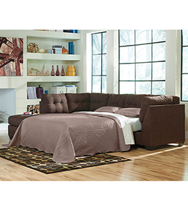 Maier Walnut Full Sleeper Sectional Left Side Chaise
