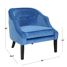 Sofia Accent Chair in Blue at Affordable Portables